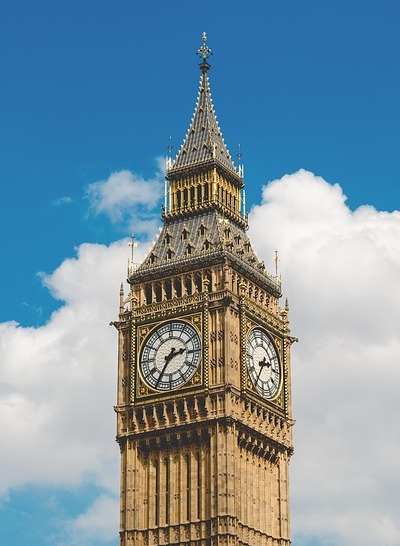 Big Ben (Courtesy of Pixabay)